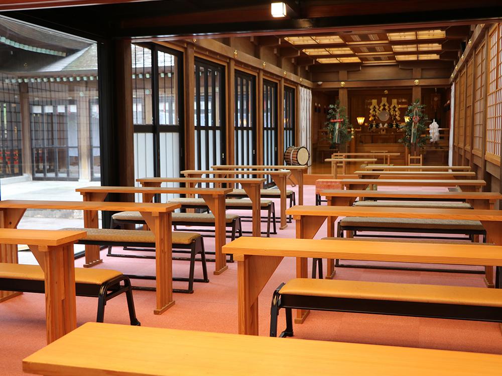 鹿児島縣護國神社神前式|式場設備
