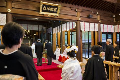 護国神社での神前式はしっかりとしたサポートで安心